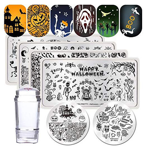 Halloween-Inspired-Nail-Art-Stamps-For-Girls-Women-2019-4