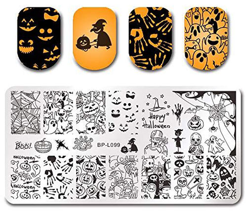 Halloween-Inspired-Nail-Art-Stamps-For-Girls-Women-2019-5