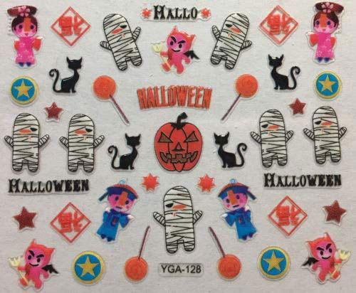 Halloween-Mummy-Nail-Art-Decals-Designs-Trends-2019-1
