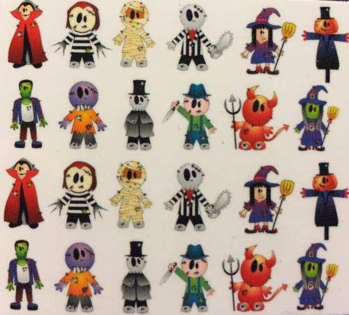 Halloween-Mummy-Nail-Art-Decals-Designs-Trends-2019-2