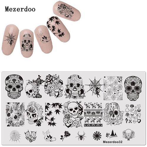 Halloween-Skull-Nail-Art-Stamping-Kits-For-Girls-Women-2019-3