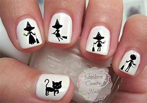 Halloween-Witch-Nail-Art-Decals-Designs-Ideas-2019-8