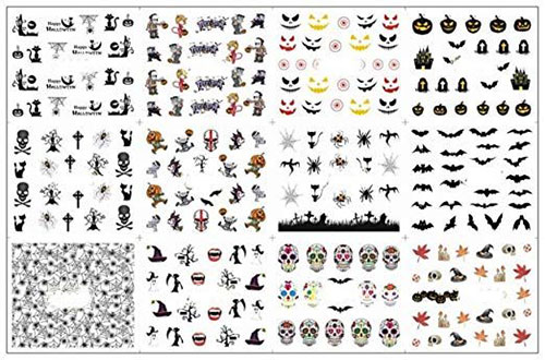 Very-Simple-Halloween-Nail-Art-Decals-Decorations-2019-2