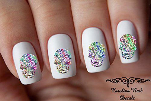 Very-Simple-Halloween-Nail-Art-Decals-Decorations-2019-4