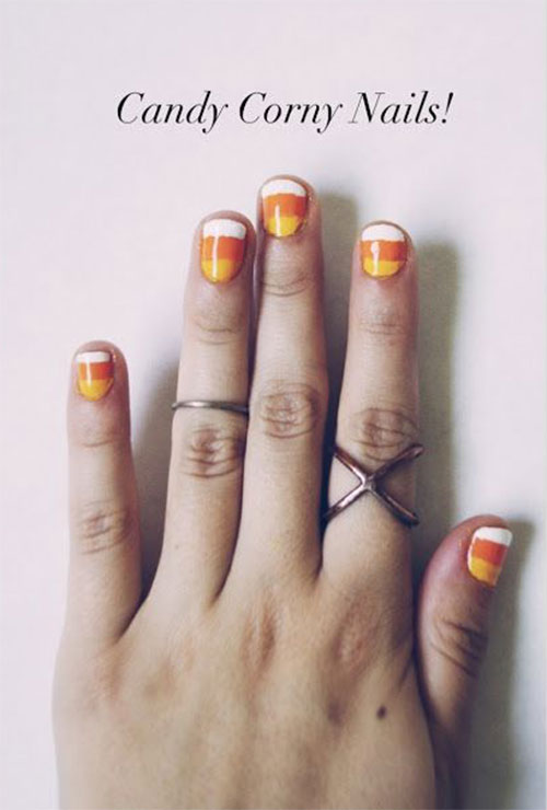 20-Very-Easy-Simple-Halloween-Candy-Corn-Nails-Designs-Ideas-2019-21