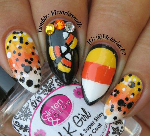 20-Very-Easy-Simple-Halloween-Candy-Corn-Nails-Designs-Ideas-2019-7