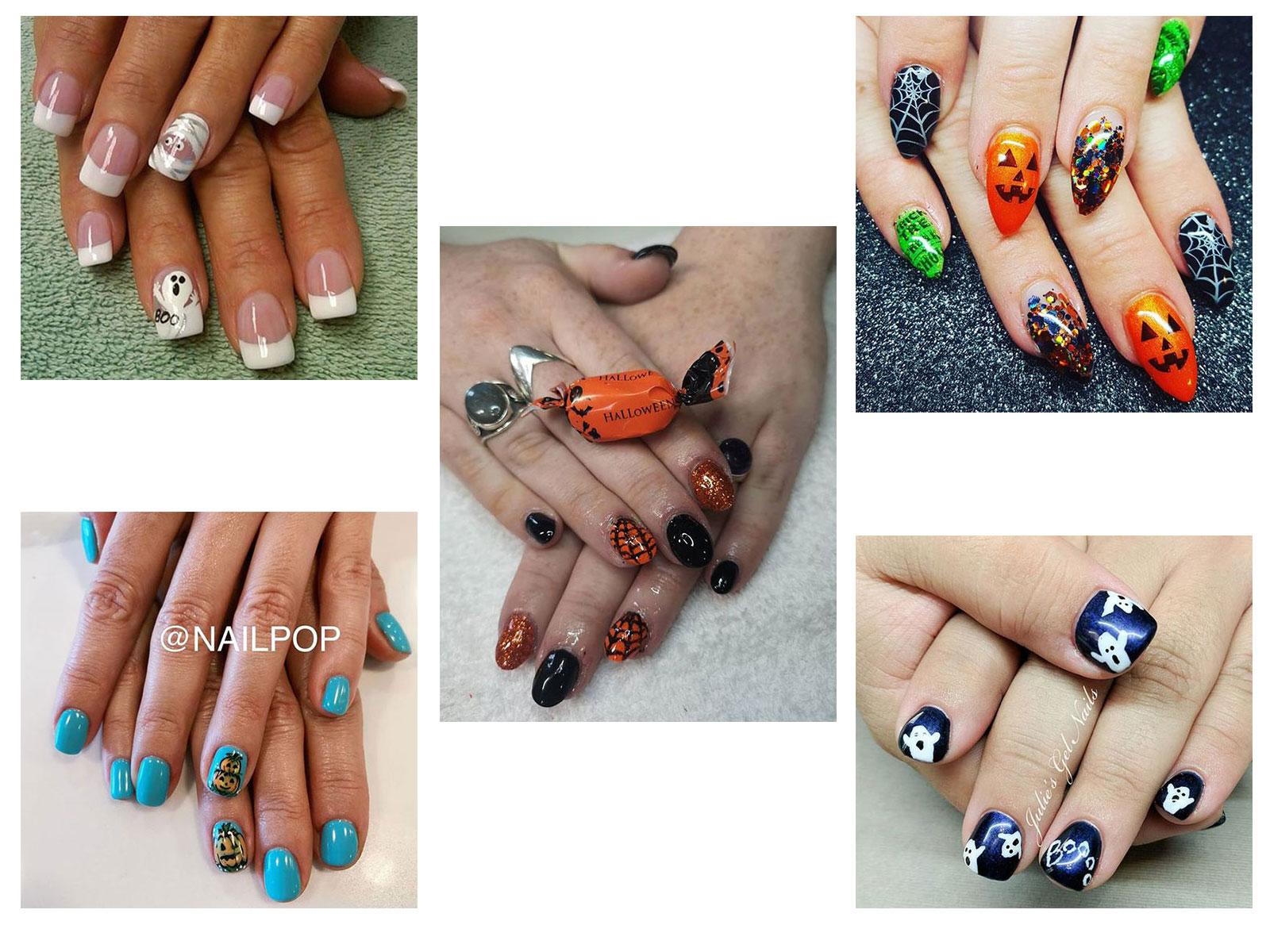 30+ Halloween Gel Nails Art Designs, Ideas & Trends 2019 ...