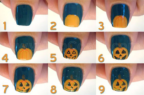 12-Easy-Simple-Halloween-Themed-Nails-Art-Tutorials-For-Beginners-2019-5