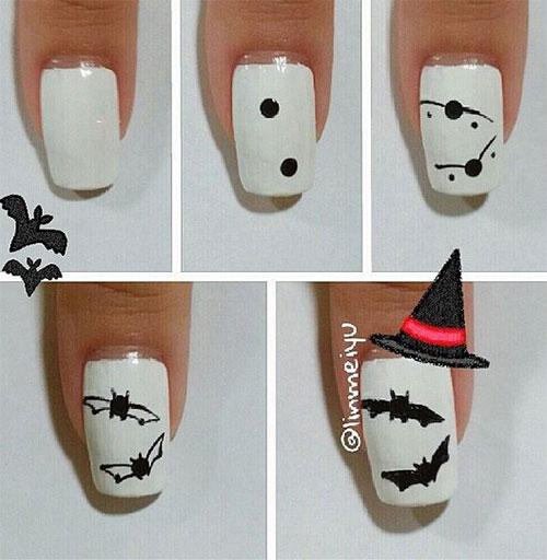 12-Easy-Simple-Halloween-Themed-Nails-Art-Tutorials-For-Beginners-2019-6
