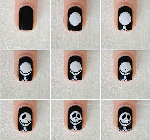 12-Easy-Simple-Halloween-Themed-Nails-Art-Tutorials-For-Beginners-2019-7