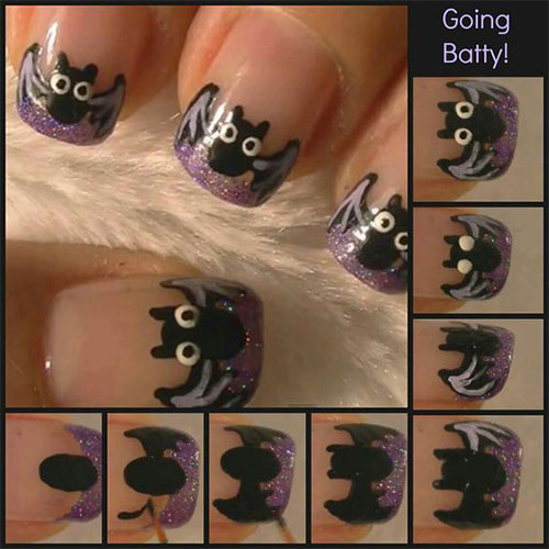 12-Easy-Simple-Halloween-Themed-Nails-Art-Tutorials-For-Beginners-2019-8