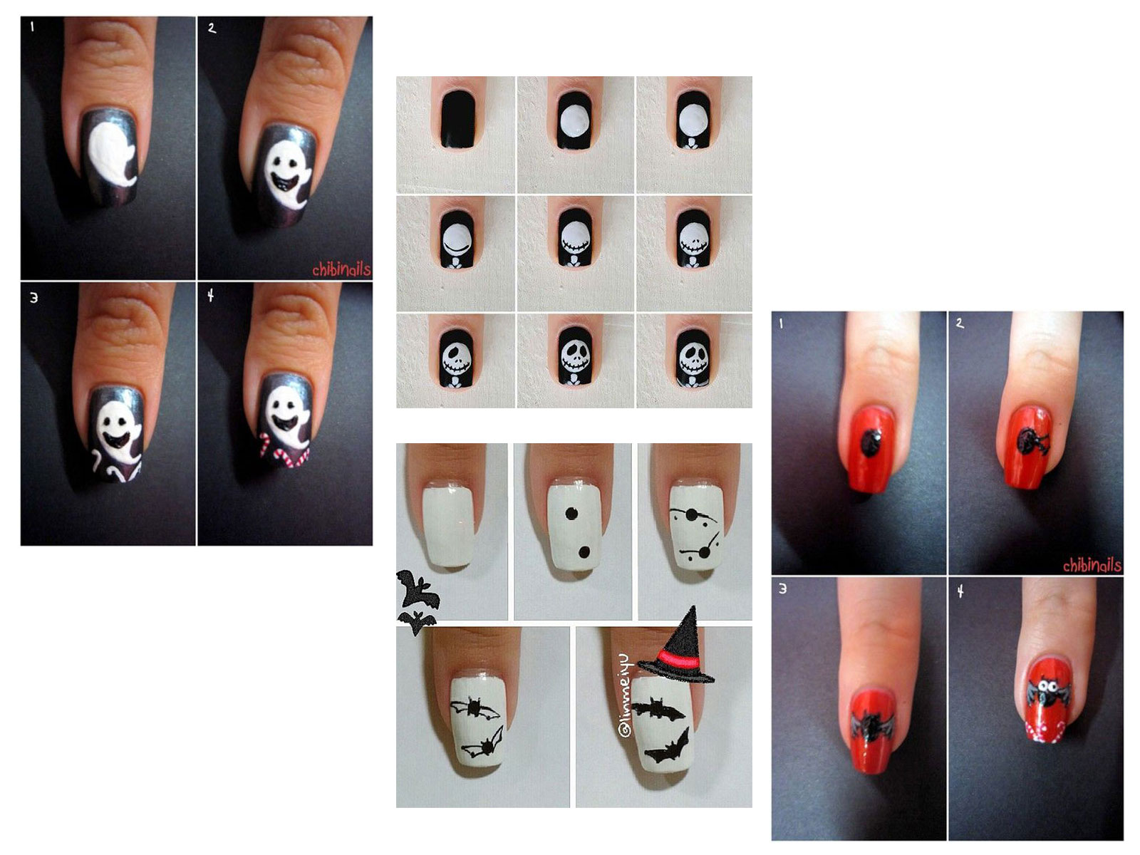 12 Easy Simple Halloween Themed Nails Art Tutorials For