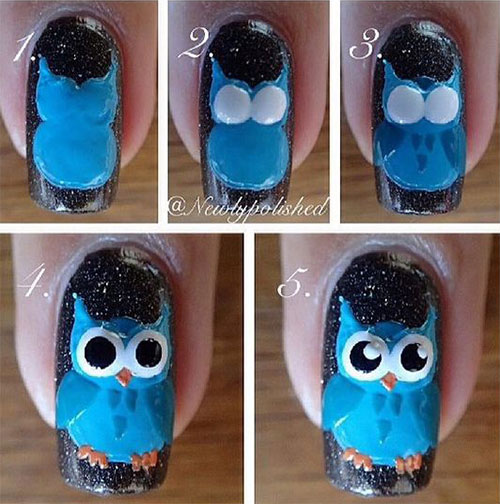 12-Step-By-Step-Halloween-Owl-Nails-Art-Tutorials-For-Beginners-2019-1