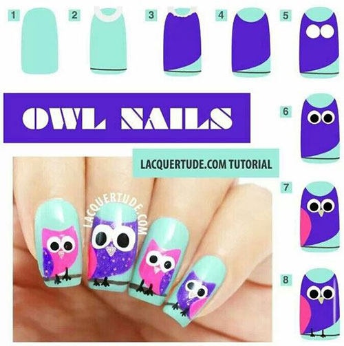 12-Step-By-Step-Halloween-Owl-Nails-Art-Tutorials-For-Beginners-2019-11