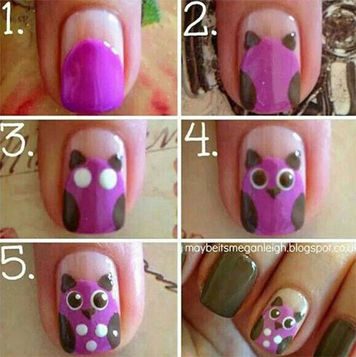 12-Step-By-Step-Halloween-Owl-Nails-Art-Tutorials-For-Beginners-2019-12