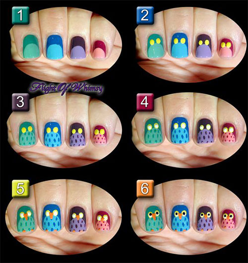 12-Step-By-Step-Halloween-Owl-Nails-Art-Tutorials-For-Beginners-2019-8