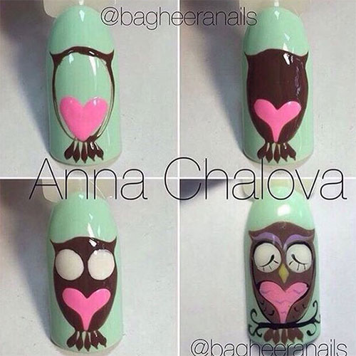 12-Step-By-Step-Halloween-Owl-Nails-Art-Tutorials-For-Beginners-2019-9