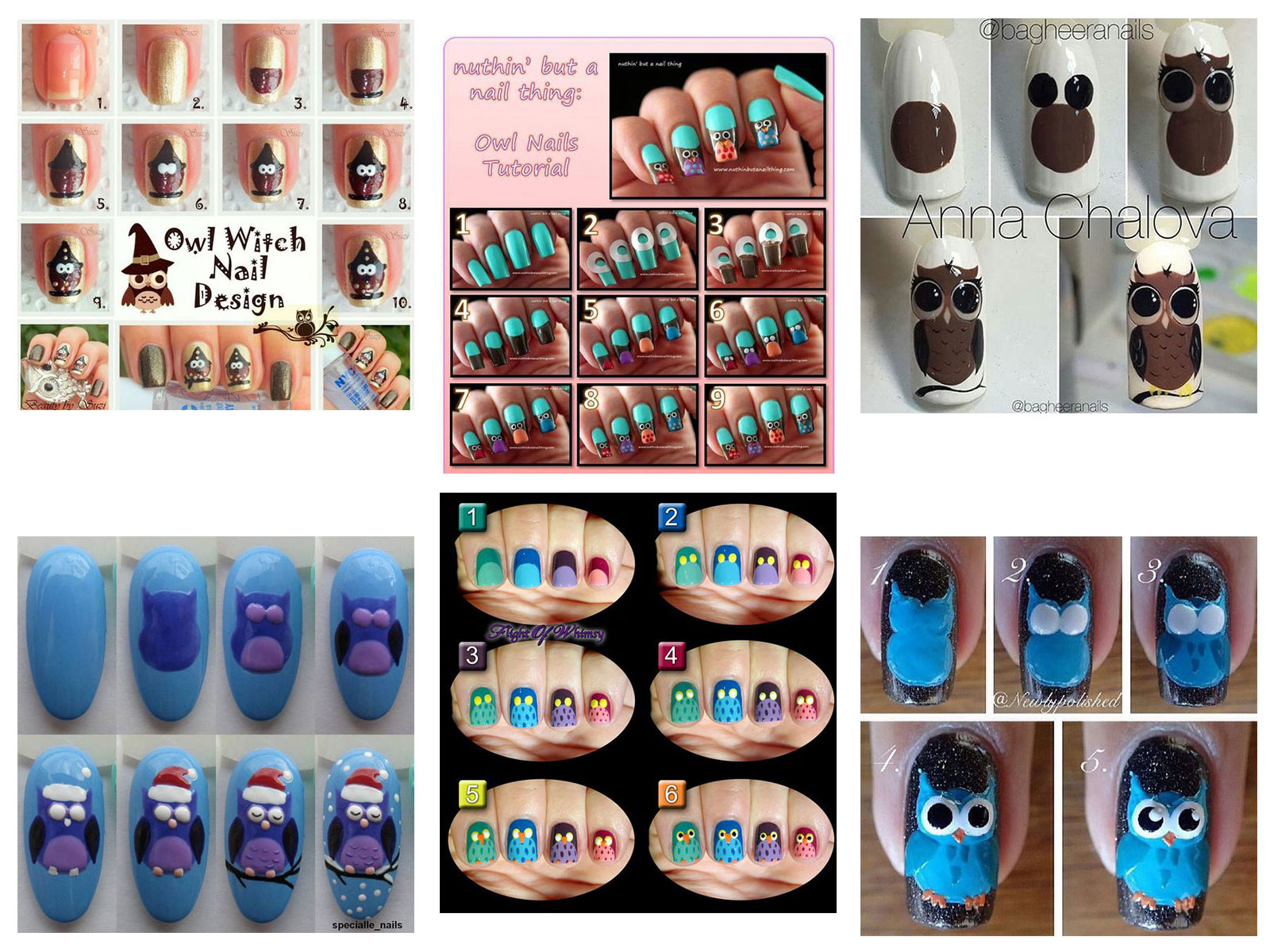 12-Step-By-Step-Halloween-Owl-Nails-Art-Tutorials-For-Beginners-2019-F
