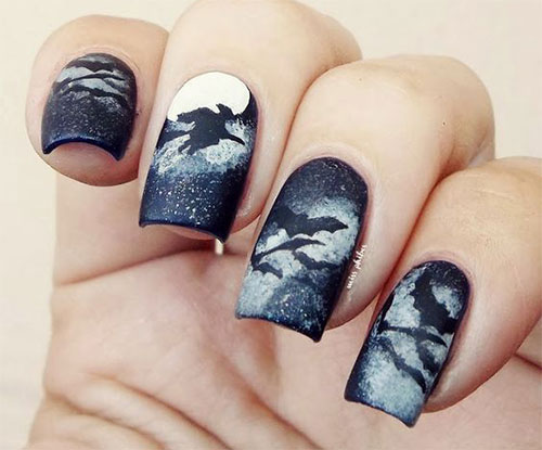 15-Easy-Scary-Halloween-Bat-Nails-Art-Designs-Ideas-Trends-2019-9