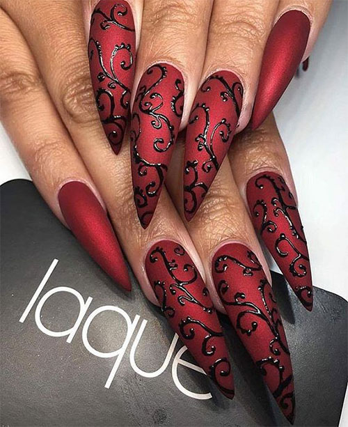 20-Creepy-Halloween-Black-Red-Nails-Art-Designs-Ideas-2019-Nail-Polish-9