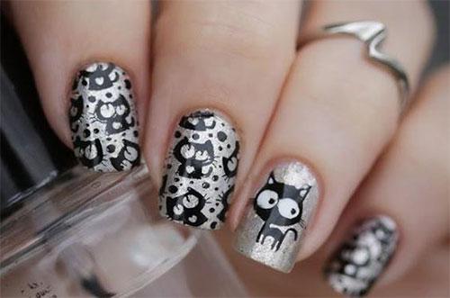 20-Spooky-Halloween-Black-Cat-Nails-Art-Designs-Ideas-2019-13