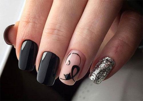 20-Spooky-Halloween-Black-Cat-Nails-Art-Designs-Ideas-2019-14