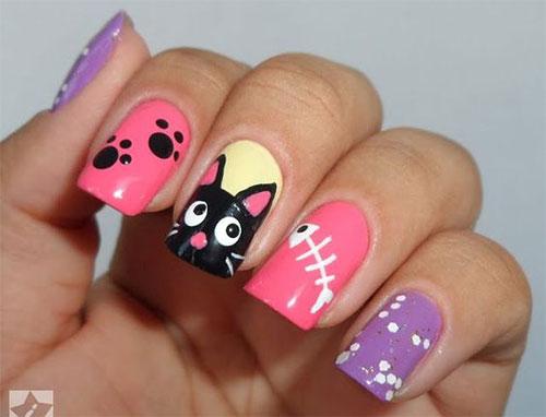 20-Spooky-Halloween-Black-Cat-Nails-Art-Designs-Ideas-2019-20