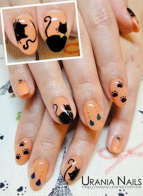 20-Spooky-Halloween-Black-Cat-Nails-Art-Designs-Ideas-2019-3