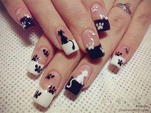 20-Spooky-Halloween-Black-Cat-Nails-Art-Designs-Ideas-2019-5