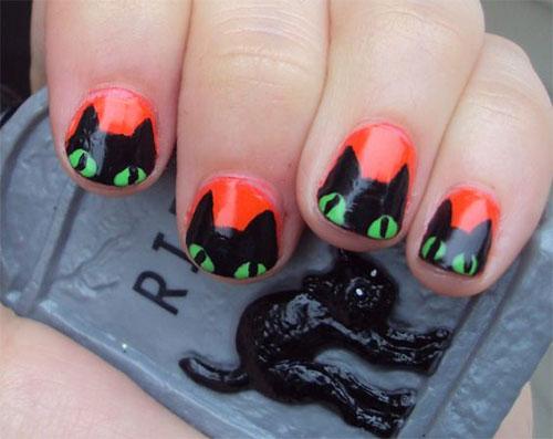 20-Spooky-Halloween-Black-Cat-Nails-Art-Designs-Ideas-2019-8