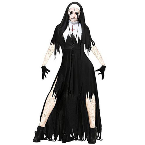 50-Creepy-Scary-Cheap-Halloween-Costume-Ideas-For-Girls-Women-2019-5