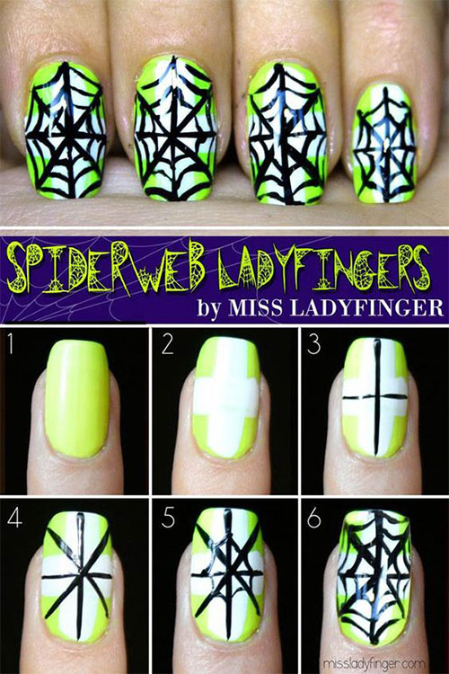 Creative-Spider-Spiderweb-Halloween-Nails-Art-Tutorials-For-Beginners-2019-1