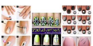 Creative-Spider-Spiderweb-Halloween-Nails-Art-Tutorials-For-Beginners-2019-F