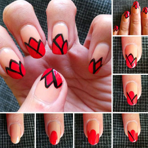 Step-By-Step-Black-Red-Halloween-Nails-Art-Tutorials-For-Beginners-2019-1