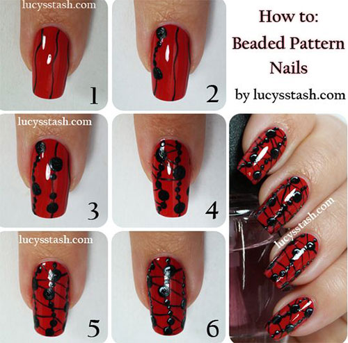 Step-By-Step-Black-Red-Halloween-Nails-Art-Tutorials-For-Beginners-2019-2