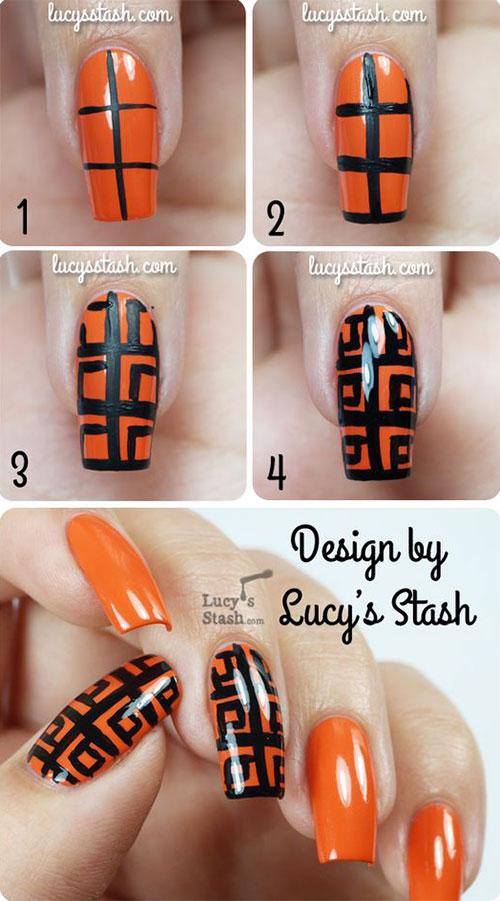 Step-By-Step-Black-Red-Halloween-Nails-Art-Tutorials-For-Beginners-2019-4