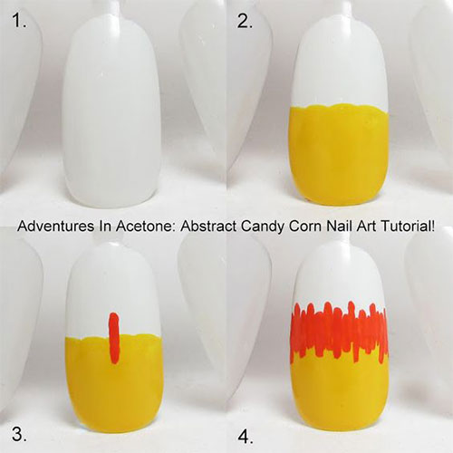 Step-By-Step-Halloween-Candy-corn-Nails-Art-Tutorials-For-Learners-2019-7
