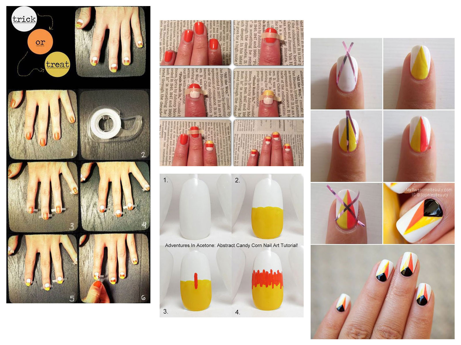 Step-By-Step-Halloween-Candy-corn-Nails-Art-Tutorials-For-Learners-2019-F