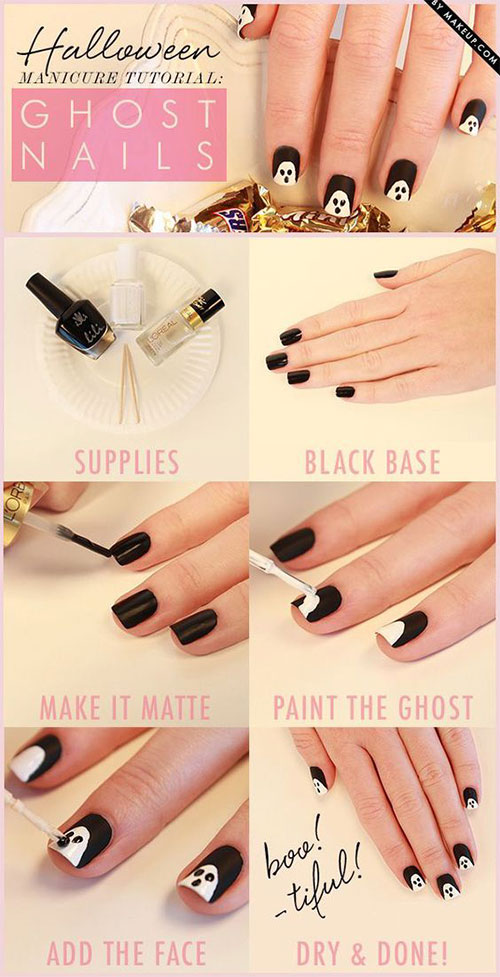 Step-By-Step-Halloween-Ghost-Nails-Art-Tutorials-For-Beginners-2019-1