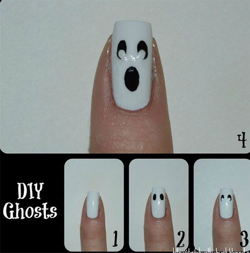 Step-By-Step-Halloween-Ghost-Nails-Art-Tutorials-For-Beginners-2019-3