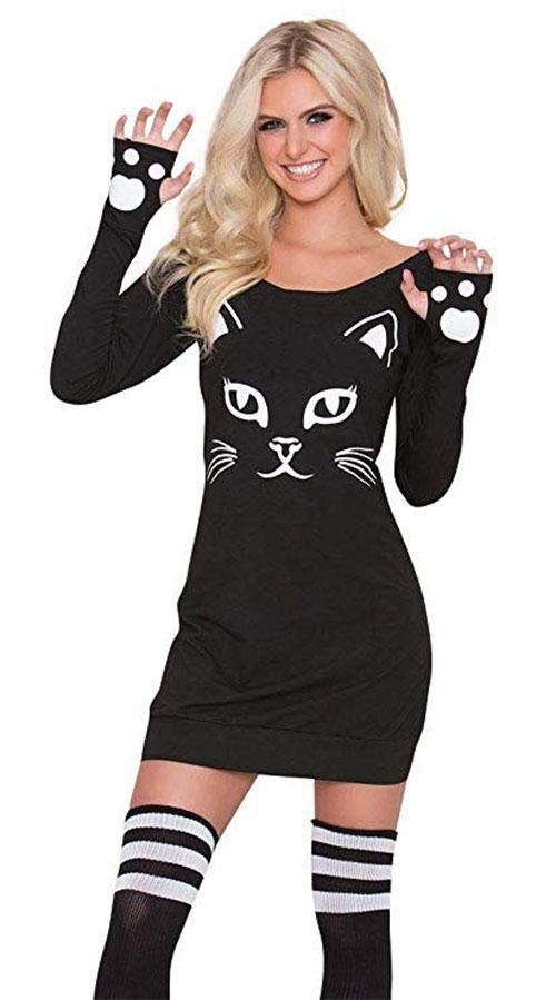 Halloween Ideas 2019 Women.12 Halloween Black Cat Costume Ideas For Kids Men Women