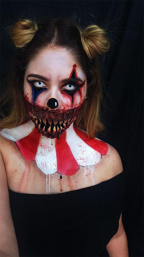 15-Spooky-Clown-Halloween-Makeup-Looks-Styles-Ideas-2019-16