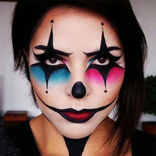 15-Spooky-Clown-Halloween-Makeup-Looks-Styles-Ideas-2019-4