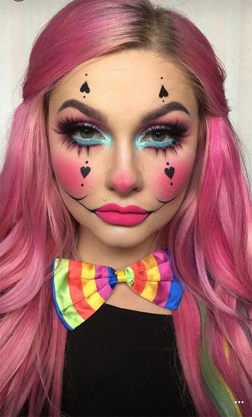 15-Spooky-Clown-Halloween-Makeup-Looks-Styles-Ideas-2019-6