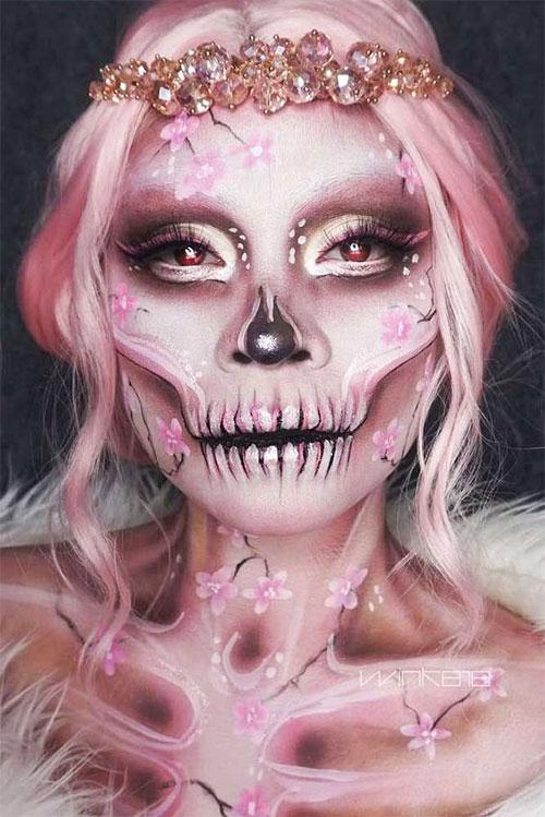 20-Creepy-Skull-Skeleton-Halloween-Makeup-Ideas-Trends-Looks-2019-11