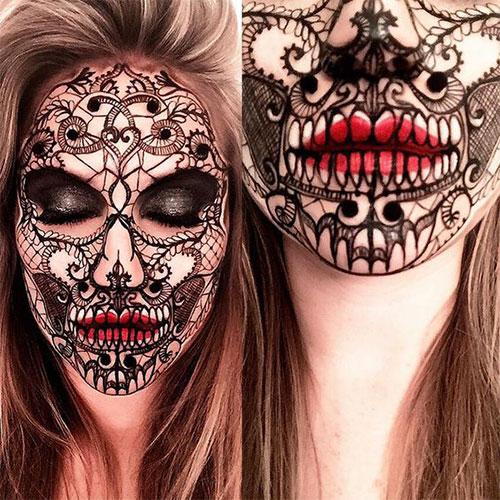 20-Creepy-Skull-Skeleton-Halloween-Makeup-Ideas-Trends-Looks-2019-13