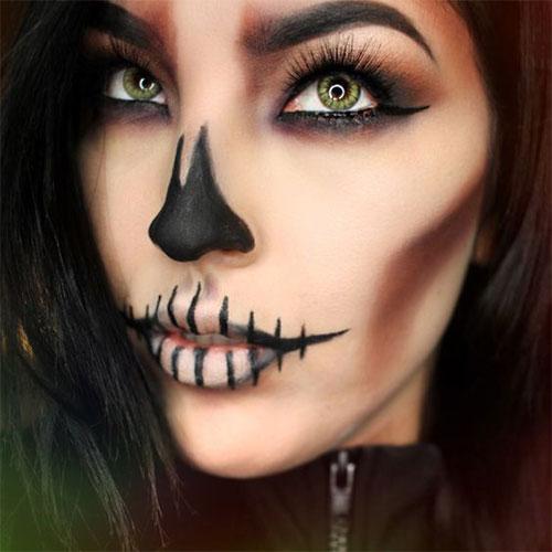 20-Creepy-Skull-Skeleton-Halloween-Makeup-Ideas-Trends-Looks-2019-14