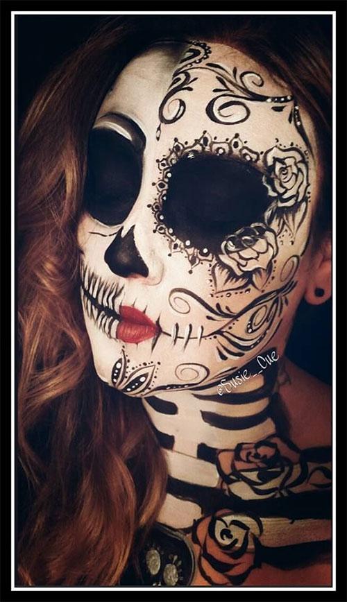 20-Creepy-Skull-Skeleton-Halloween-Makeup-Ideas-Trends-Looks-2019-17
