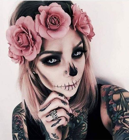 20-Creepy-Skull-Skeleton-Halloween-Makeup-Ideas-Trends-Looks-2019-18