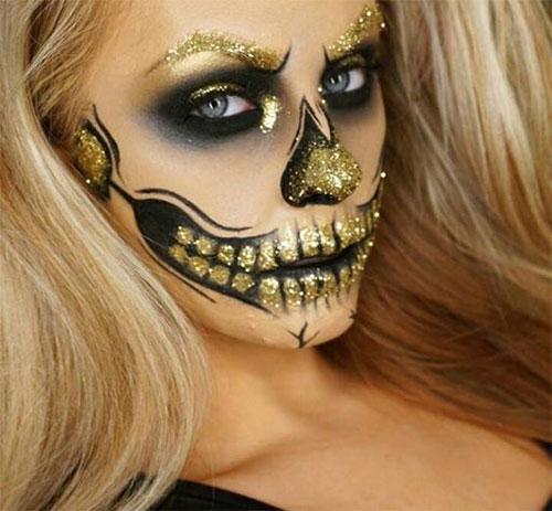 20-Creepy-Skull-Skeleton-Halloween-Makeup-Ideas-Trends-Looks-2019-19